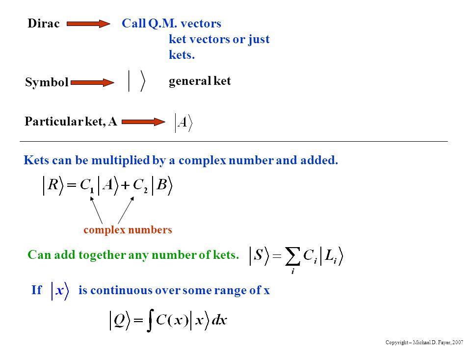Orthogonality Bra and Ket orthogonal ifscalar product equals zero.