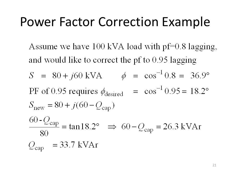 Power Factor Correction Example 21