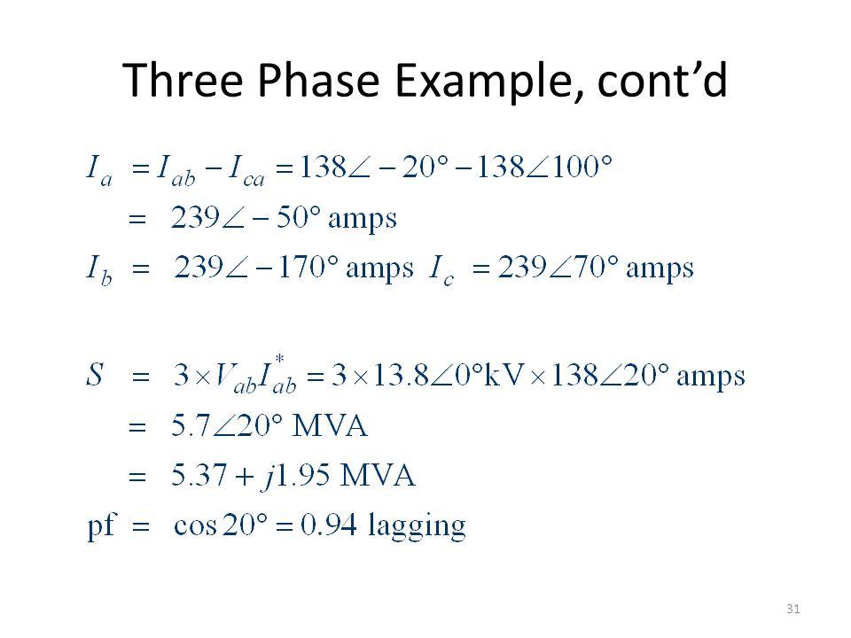 Three Phase Example, contd 31