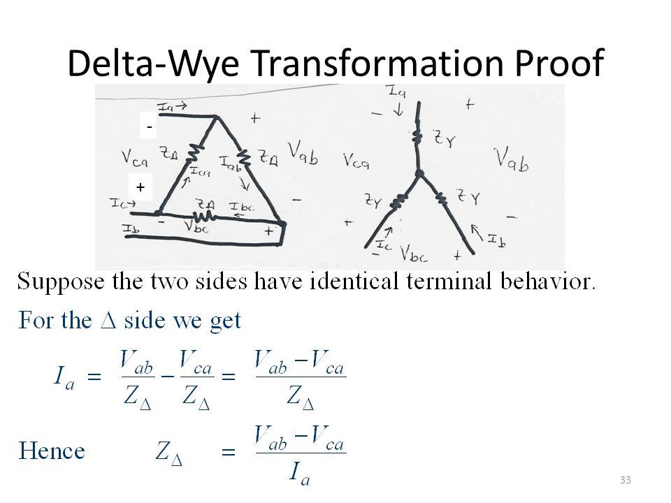 Delta-Wye Transformation Proof 33 + -