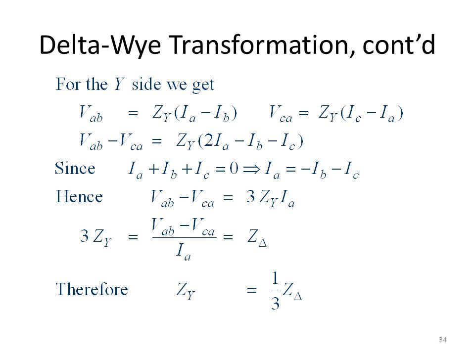 Delta-Wye Transformation, contd 34