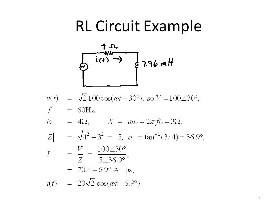 RL Circuit Example 7