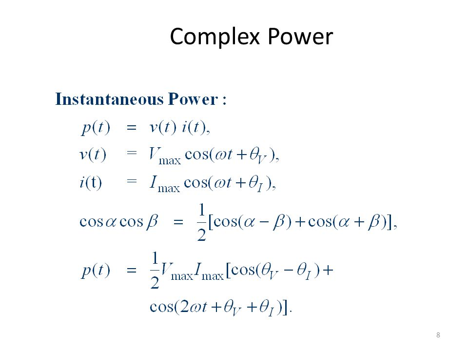Complex Power 8