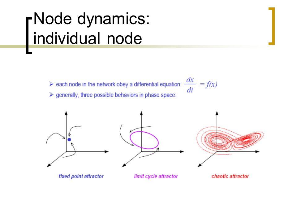 Node dynamics: individual node