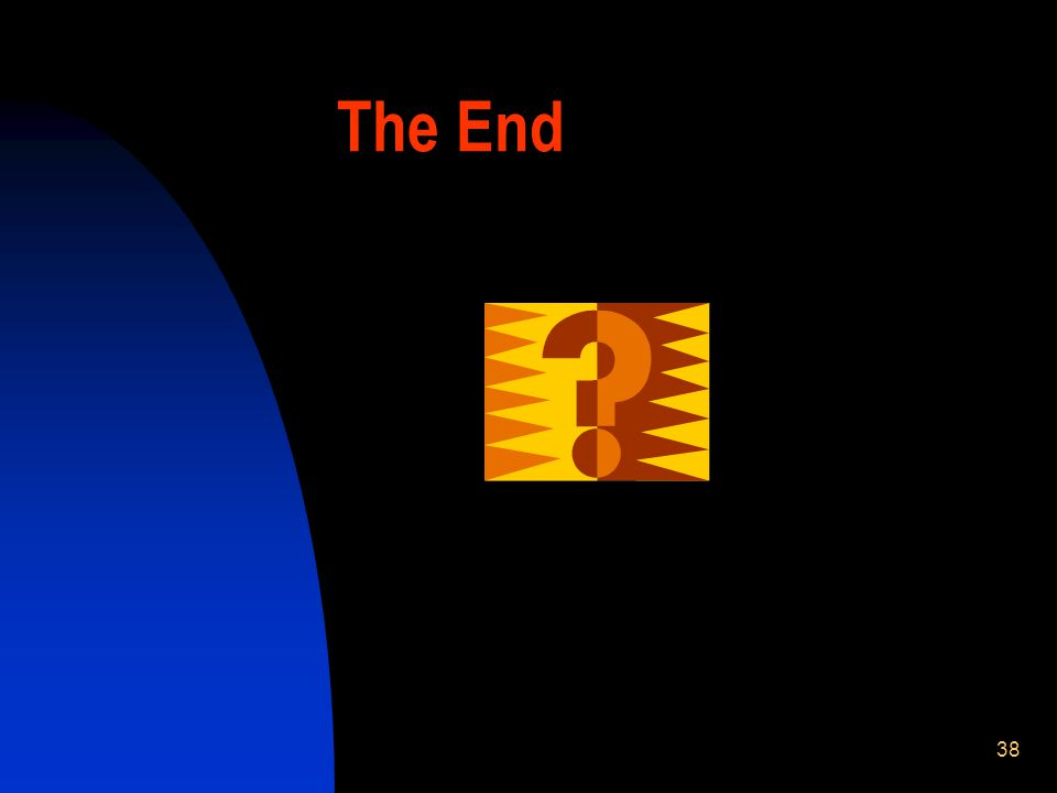 38 The End
