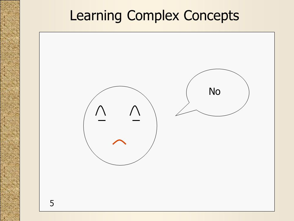 Learning Complex Concepts No 5