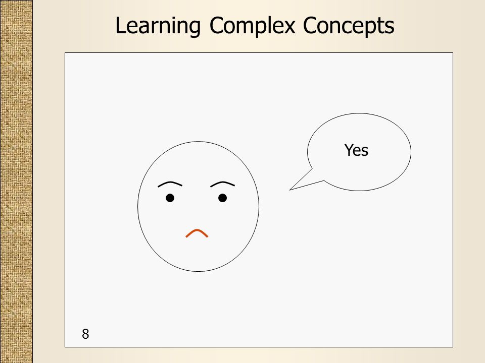 Learning Complex Concepts Yes 8