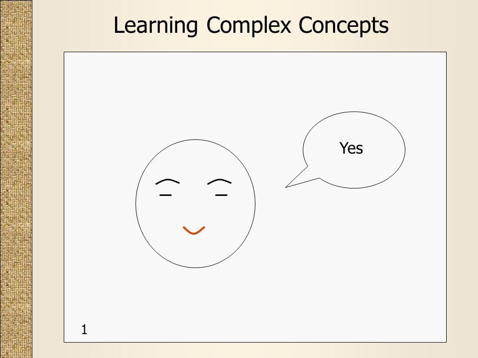 Learning Complex Concepts Yes 1