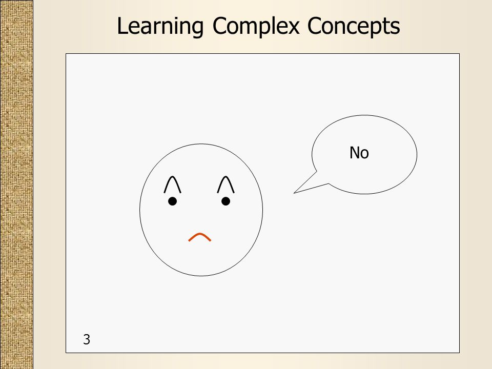 Learning Complex Concepts No 3