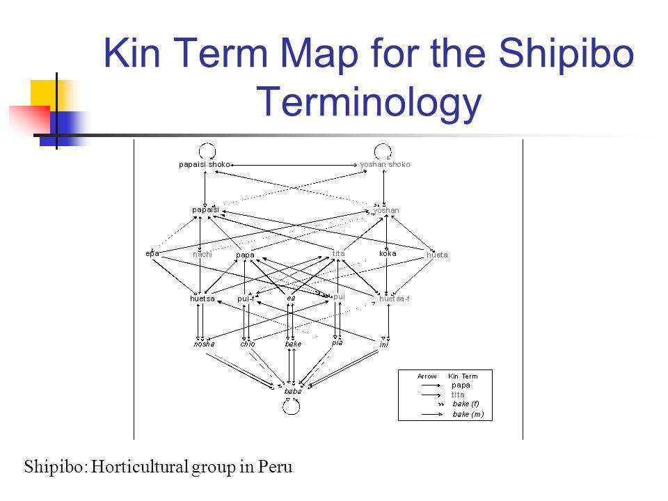 Kin Term Map for the Shipibo Terminology Shipibo: Horticultural group in Peru