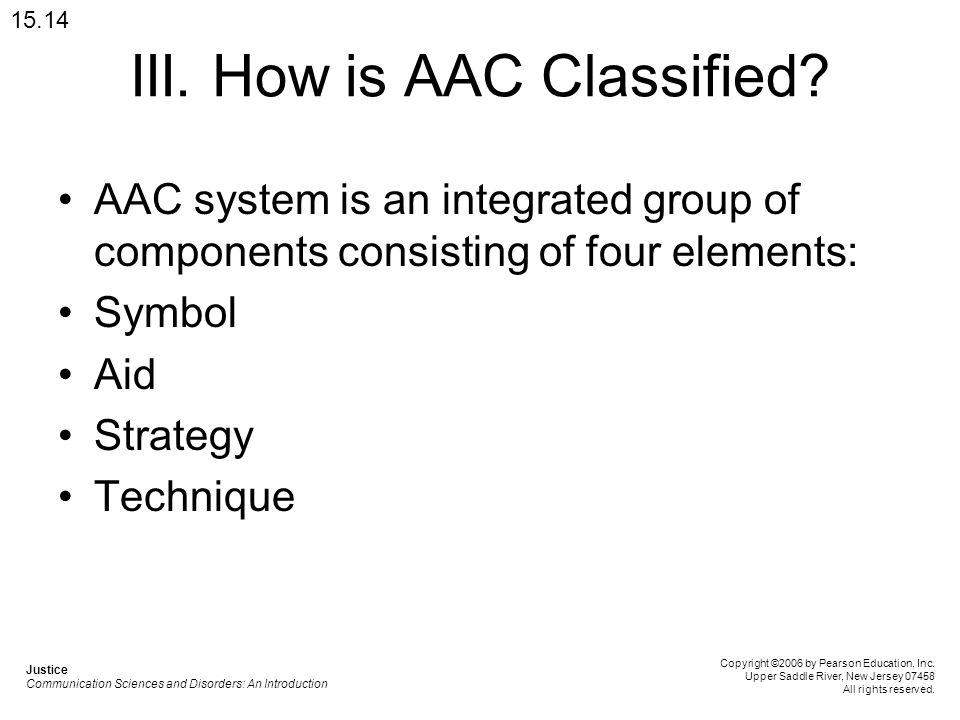 III. How is AAC Classified.