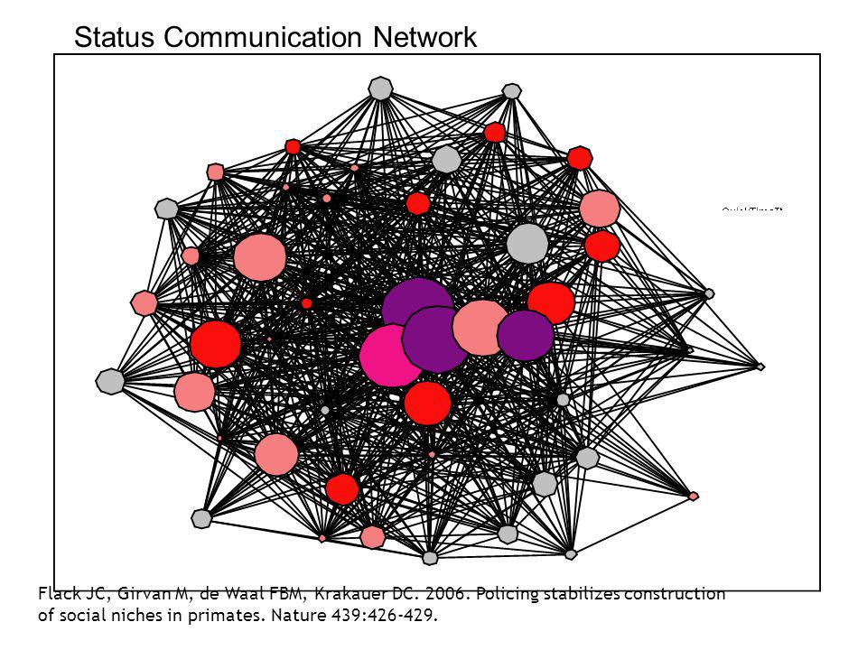 Status Communication Network Flack JC, Girvan M, de Waal FBM, Krakauer DC.