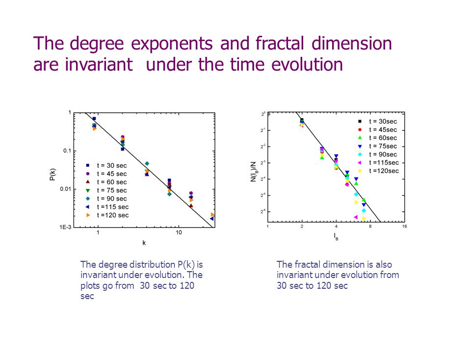 The degree distribution P(k) is invariant under evolution.