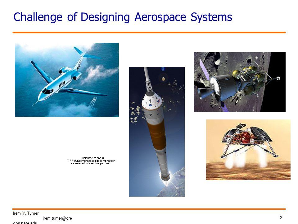 2 Irem Y. Tumer irem.tumer@ore gonstate.edu Challenge of Designing Aerospace Systems