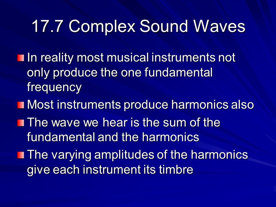Complex Sound Waves