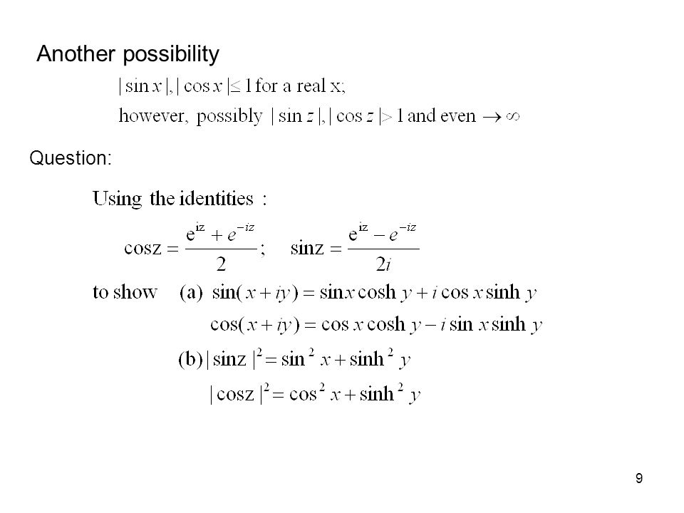 10 1.2 Cauchy – Riemann conditions Having established complex functions, we now proceed to differentiate them.
