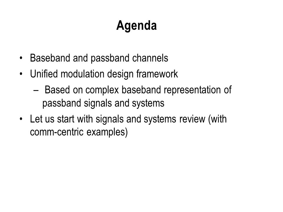 Signals and Systems Review