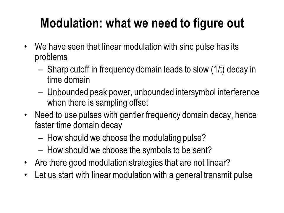 Linear Modulation