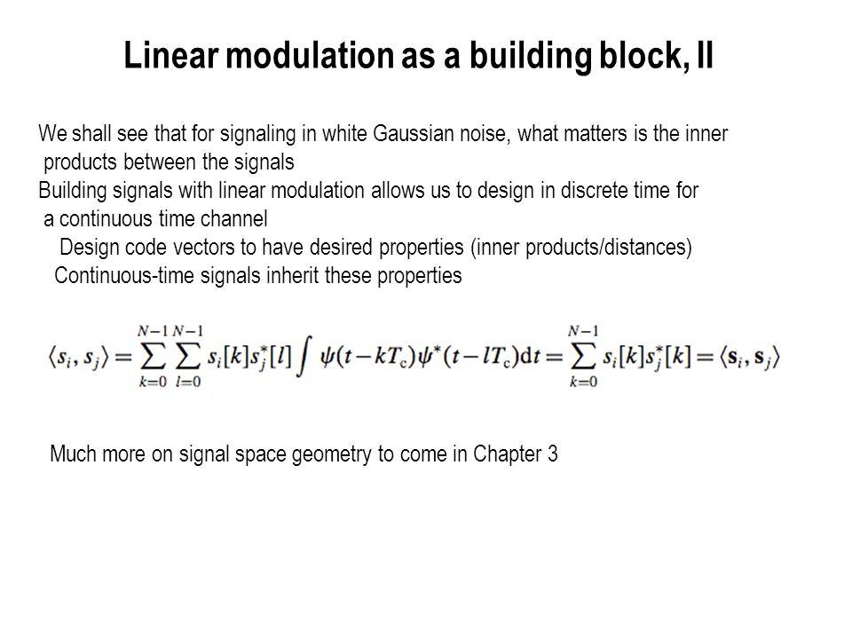 Orthogonal Modulation and its Variants