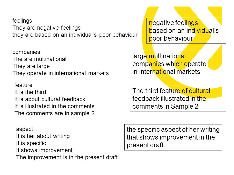 feature It is the third. It is about cultural feedback.