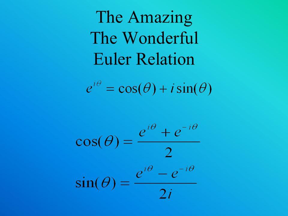 The Amazing The Wonderful Euler Relation