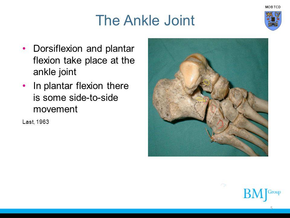 Lateral Ligaments of Ankle The anterior talofibular ligament (ATFL) The calcaneofibular (CFL) The posterior talofibular (PTF) They radiate like the spokes of a wheel Liu & Jason, 1994 26 MOB TCD