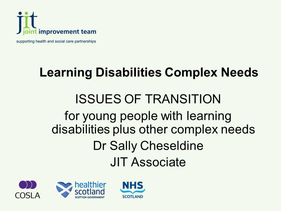 Changes in demand for support Increases in lone parent families Increasing rates of maternal employment Increases in % of older people with Learning Disability where parents have died or are frail Changing expectations among families regarding the persons right to an independent life