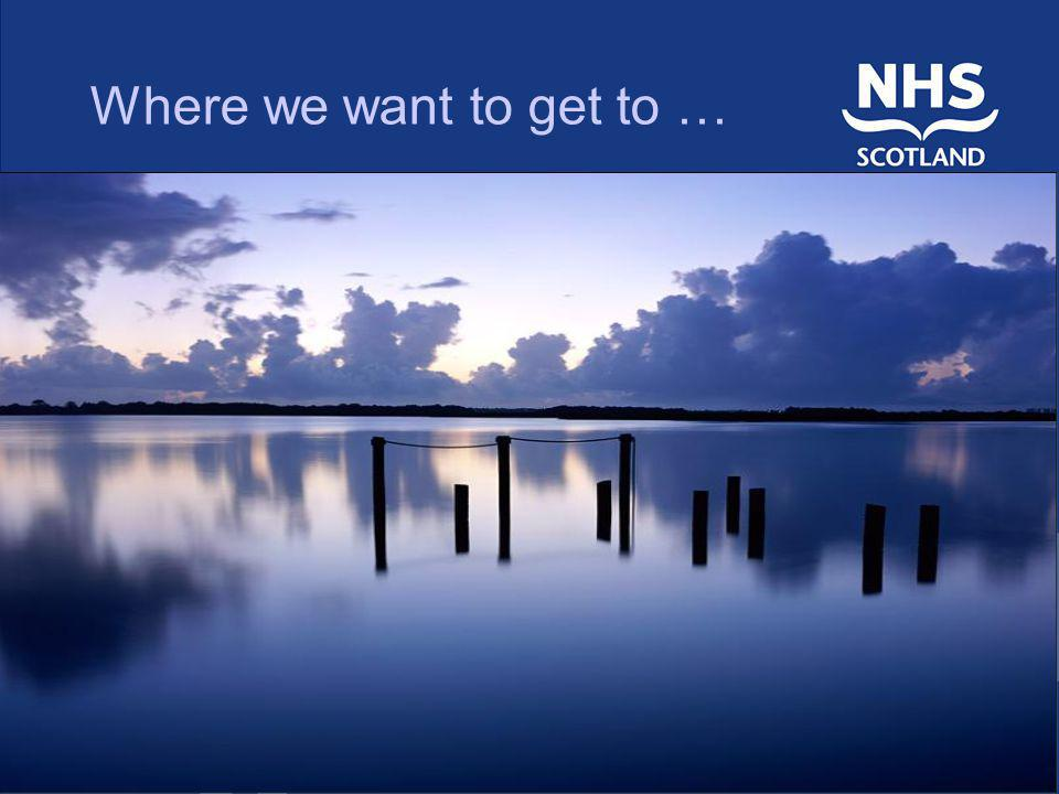 Where we want to get to …