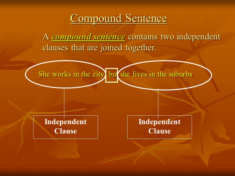 What is an independent clause.A subject, verb and complete idea – it can be a sentence on its own.