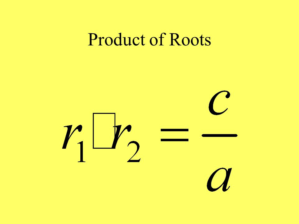 Sum of Roots