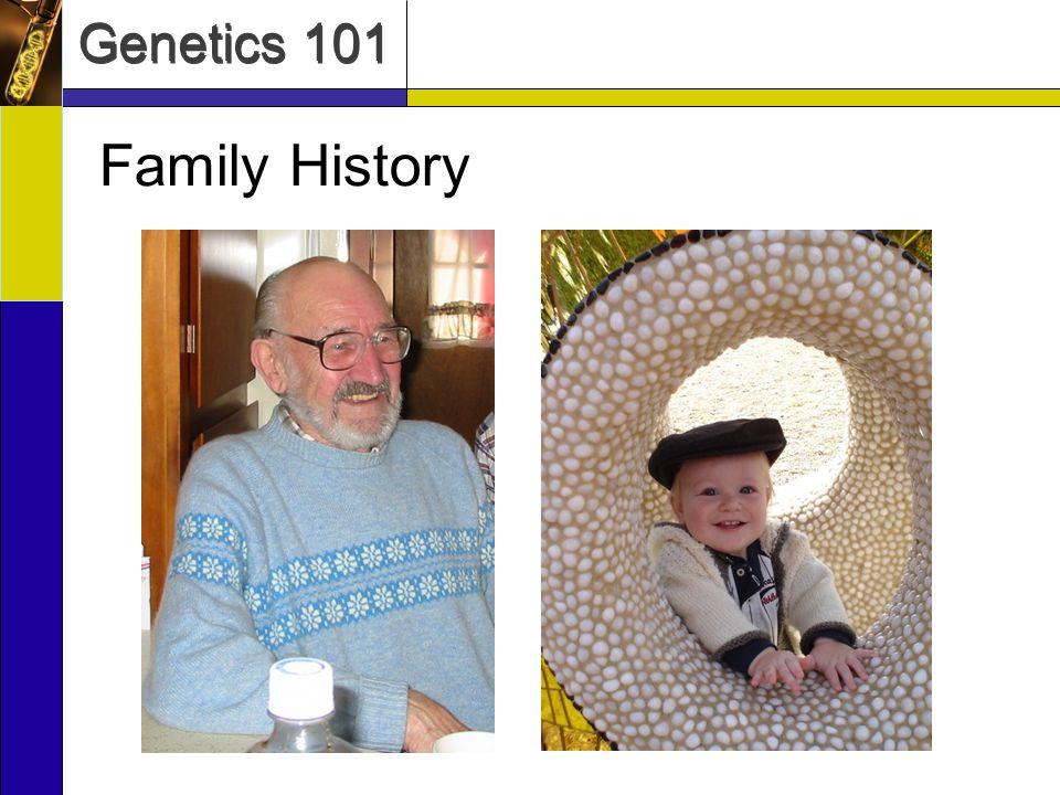 Genetics 101 Family History