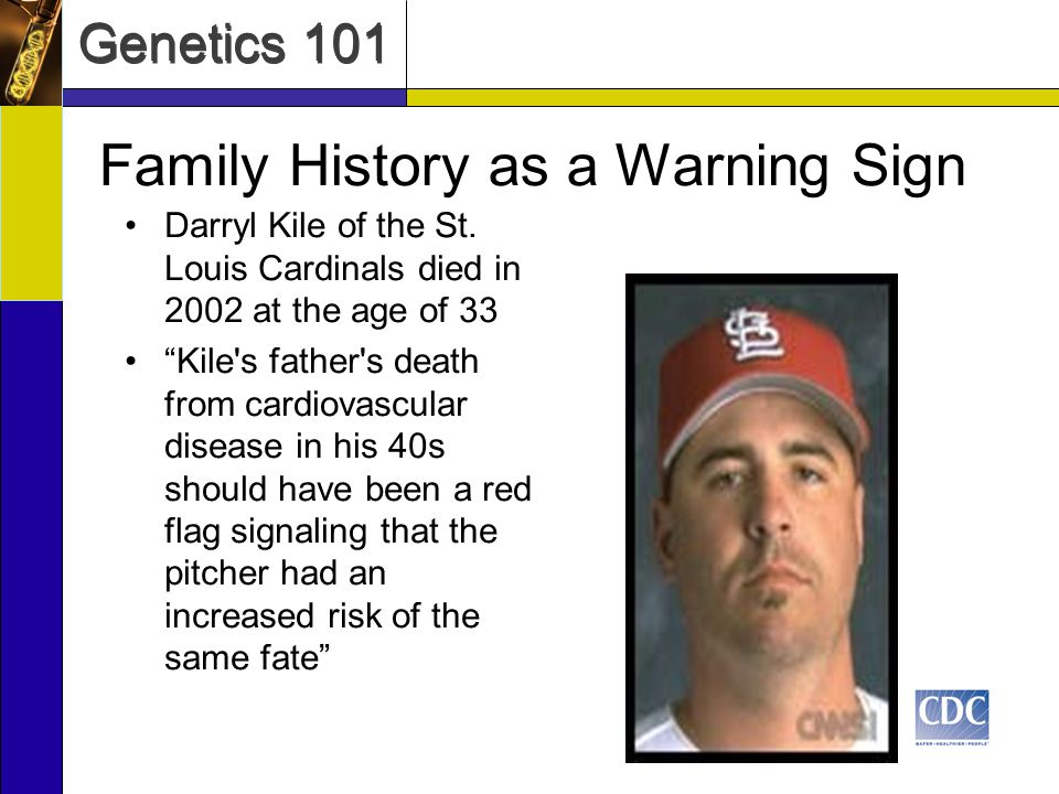 Genetics 101 Darryl Kile of the St.