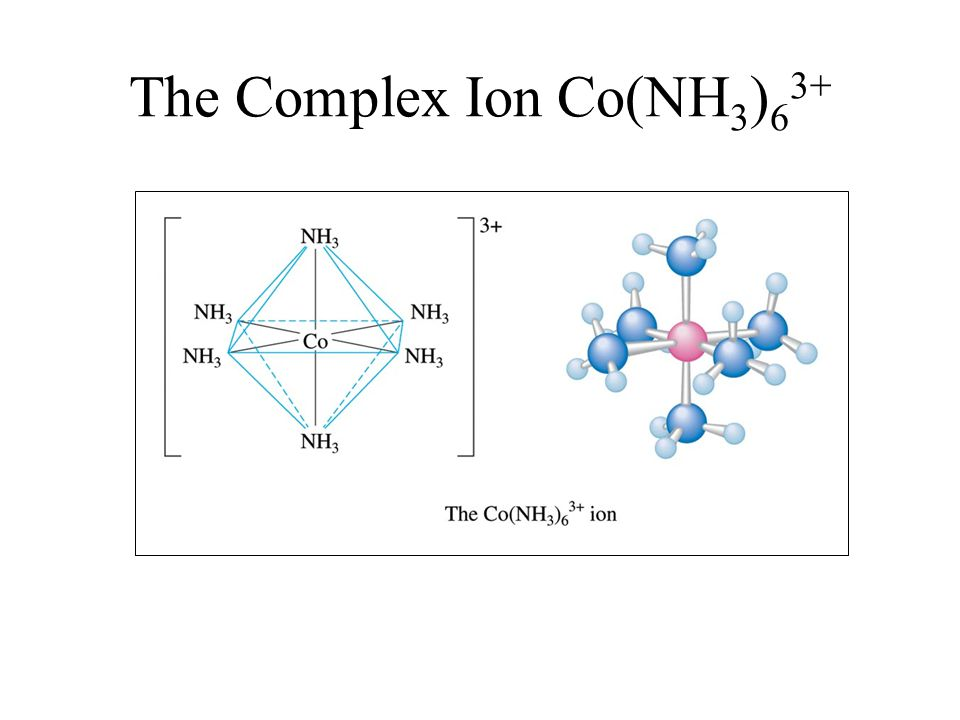 The Complex Ion Co(NH 3 ) 6 3+