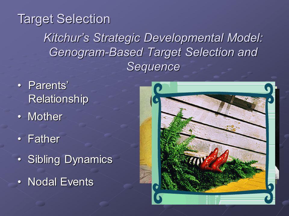 Kitchurs Strategic Developmental Model: Genogram-Based Target Selection and Sequence Parents RelationshipParents Relationship Mother Mother Father Fat