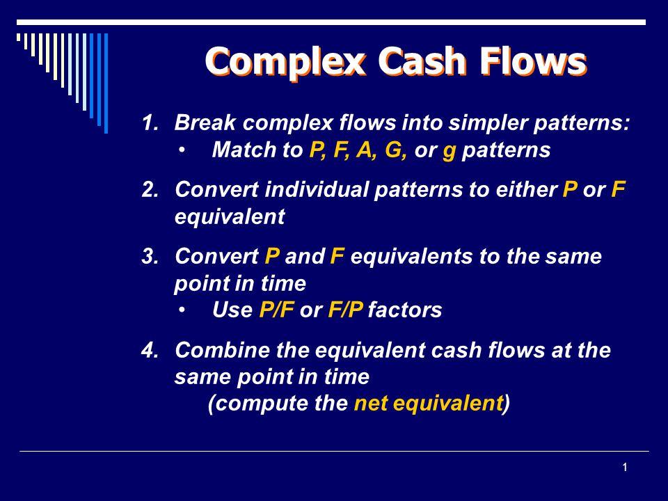 1 Complex Cash Flows 1.