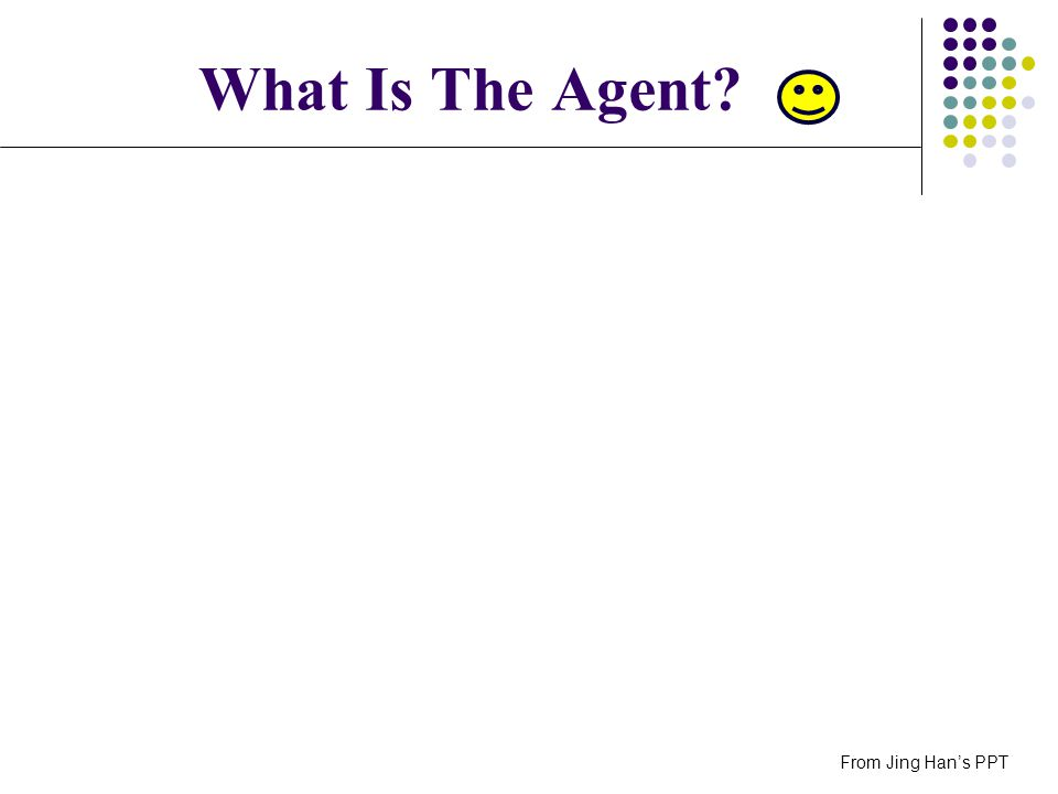 What Is The Agent? From Jing Hans PPT