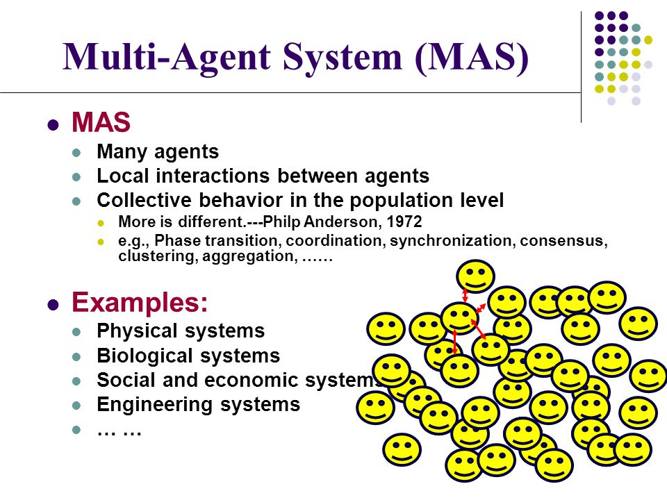 Collective Behavior of Multi-Agent Systems: Intervention References: J.