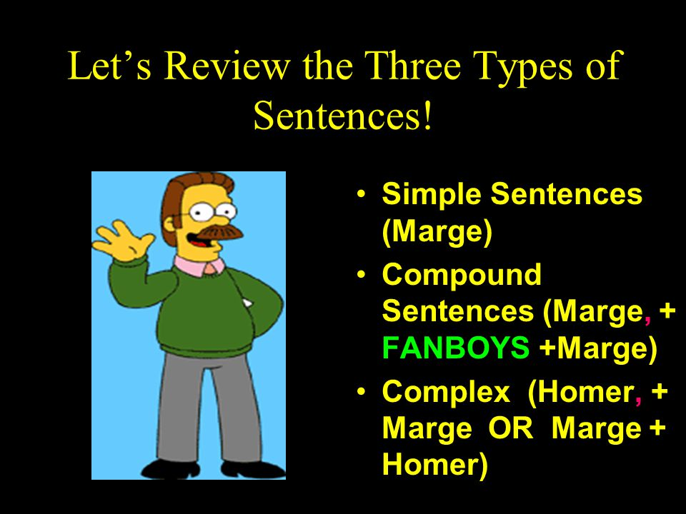 Lets Review the Three Types of Sentences.