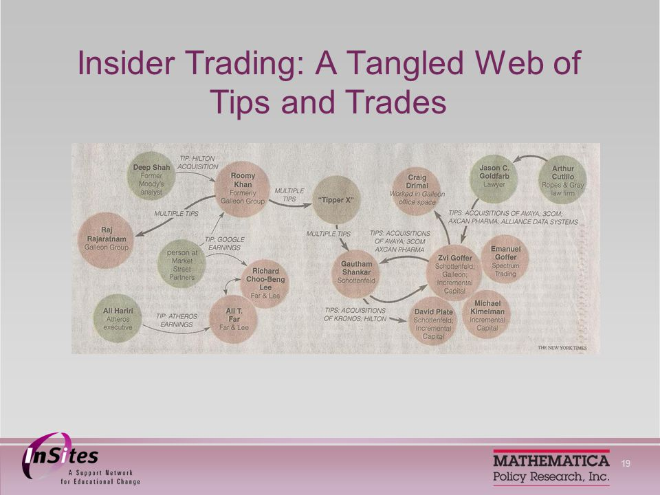 19 Insider Trading: A Tangled Web of Tips and Trades