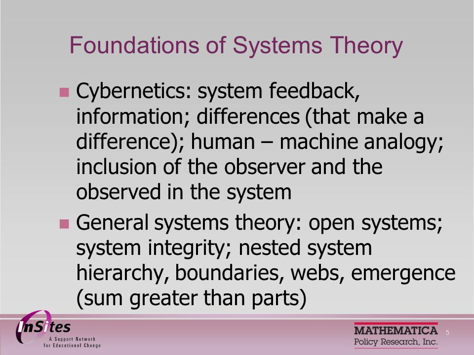 6 Systems Theories Soft and critical systems: human systems - multiple perspectives, power issues, intractable problems without simple solutions Systems dynamics: systems have reinforcing and balancing feedback loops, circularity, system archetypes, mental models, unintended consequences