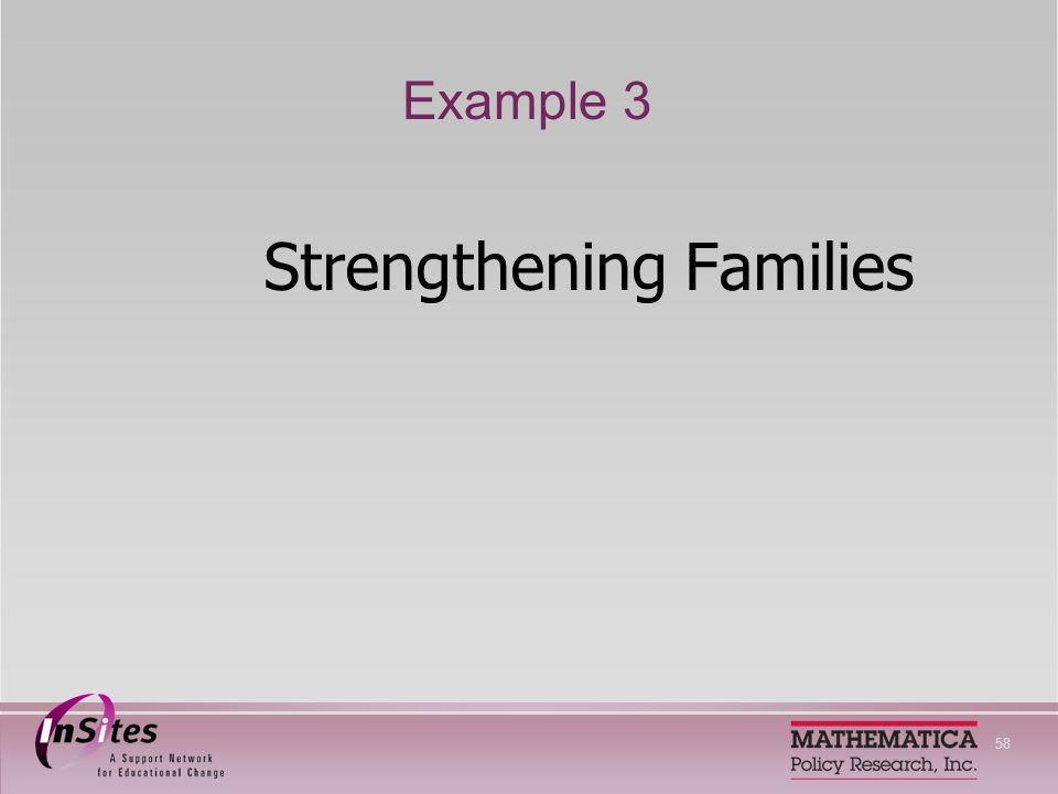 58 Example 3 Strengthening Families