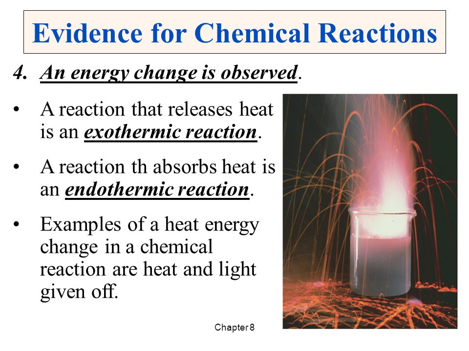 Chapter 87 Writing Chemical Equations A chemical equation describes a chemical reaction using formulas and symbols.