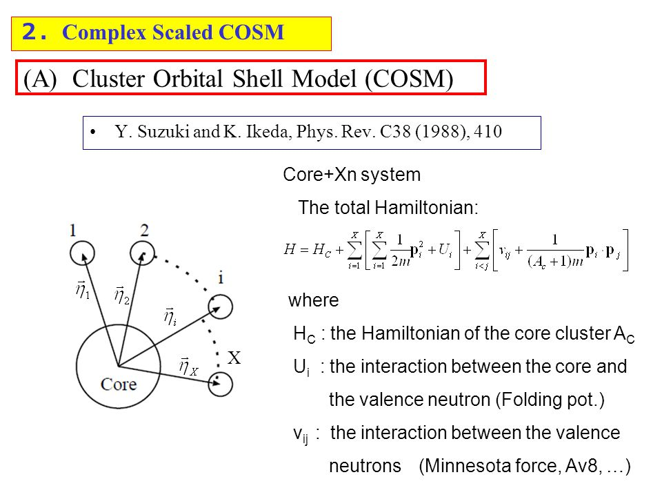 (A) Cluster Orbital Shell Model (COSM) Y. Suzuki and K.