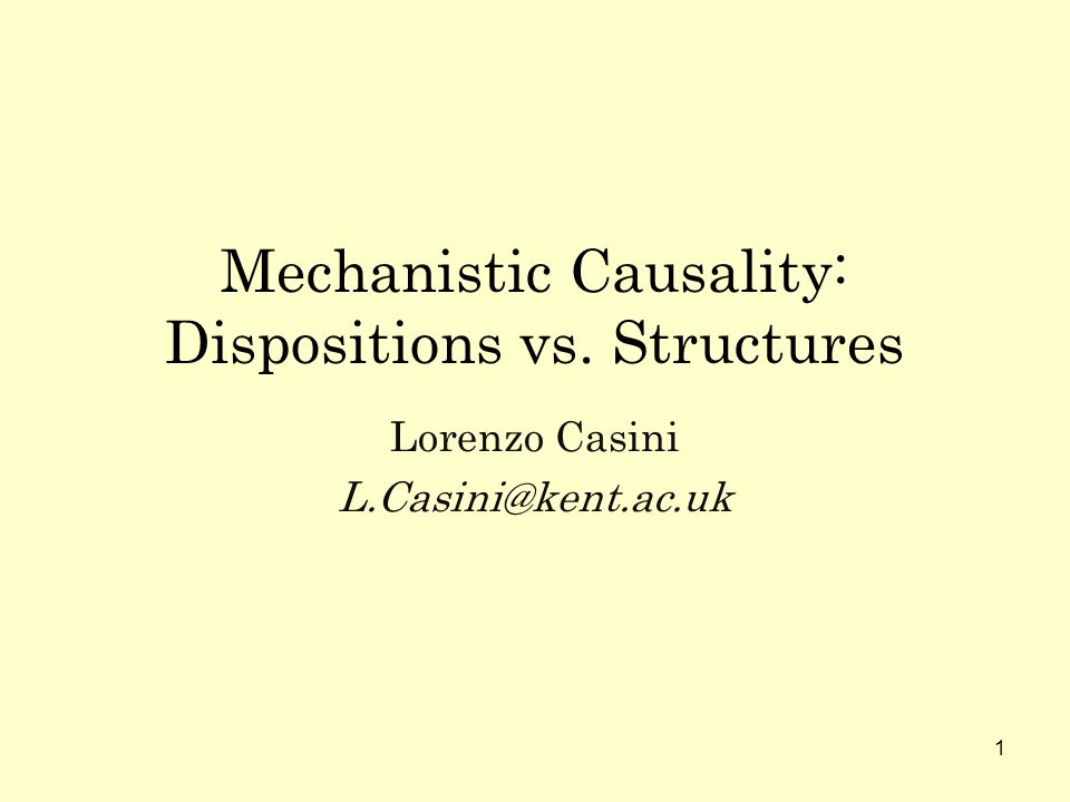 2 Outline Mechanisms & complex systems Glennans account & latest views Dispositionalist interpretation The case of asset pricing Between dispositions and structures