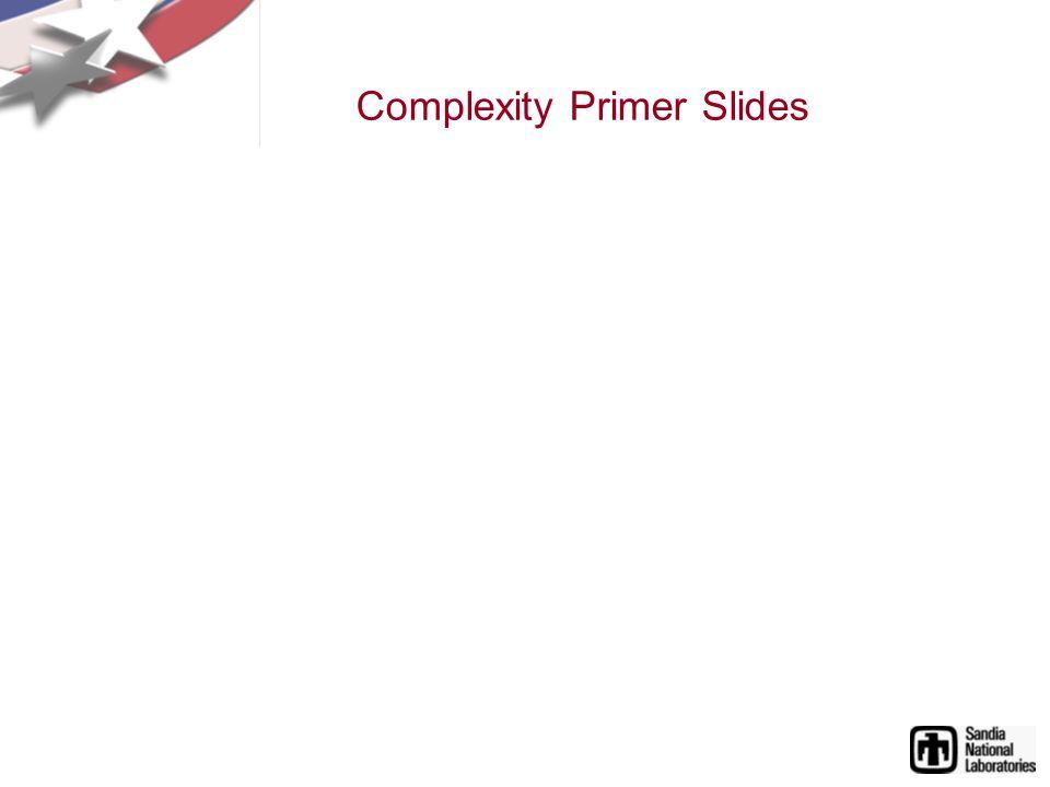 Complexity Primer Slides