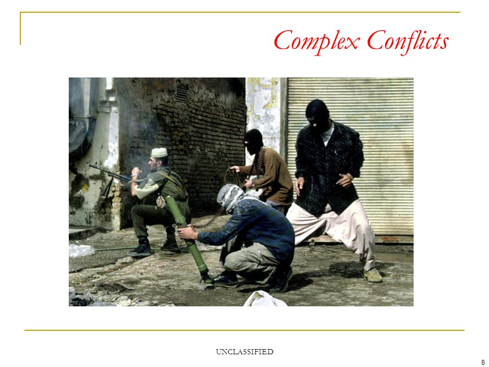 UNCLASSIFIED 8 Complex Conflicts
