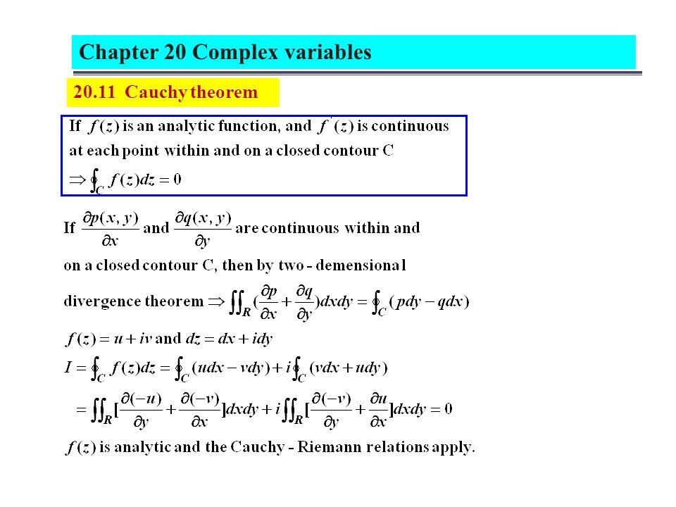 20.11 Cauchy theorem