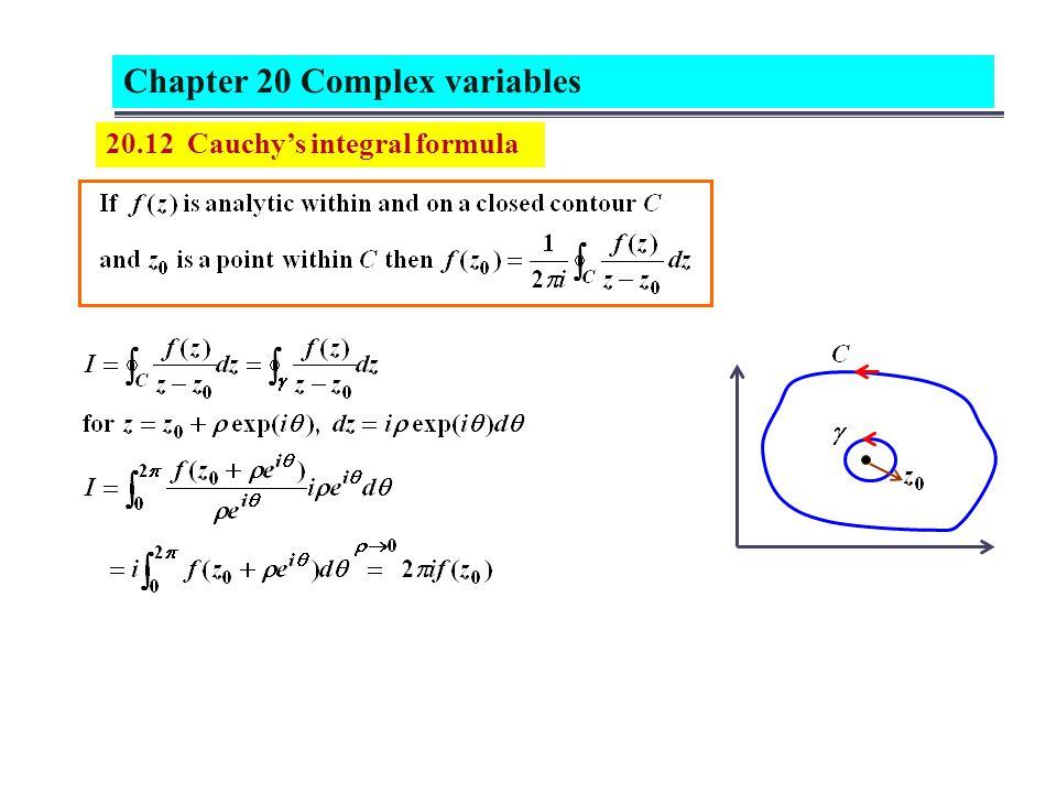 20.12 Cauchys integral formula
