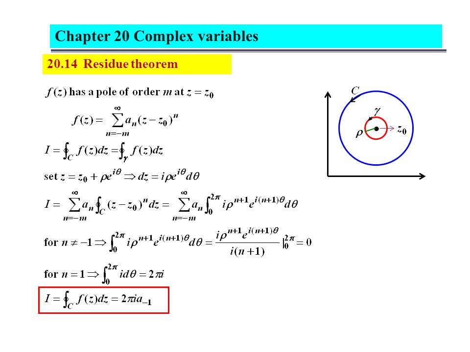 20.14 Residue theorem