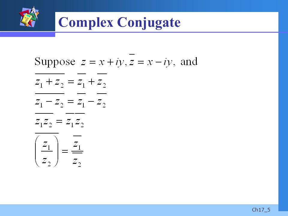 Ch17_5 Complex Conjugate